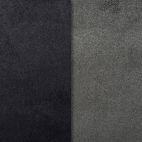 Suédine alaska réversible noir/acier