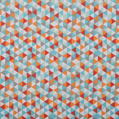 Coton trimix rouge/turquoise