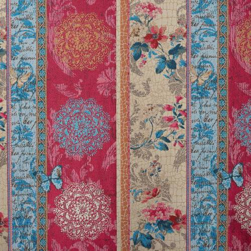 Jacquard frise bleue et rose