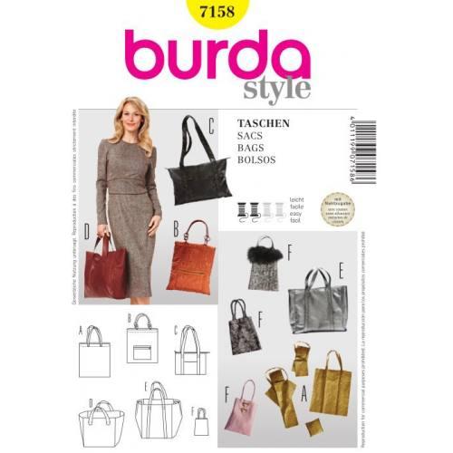 Patron Burda N°7158 style : Sacs