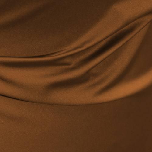 Tissu microfibre extensible noisette