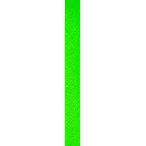 Biais replié polycoton vert fluo