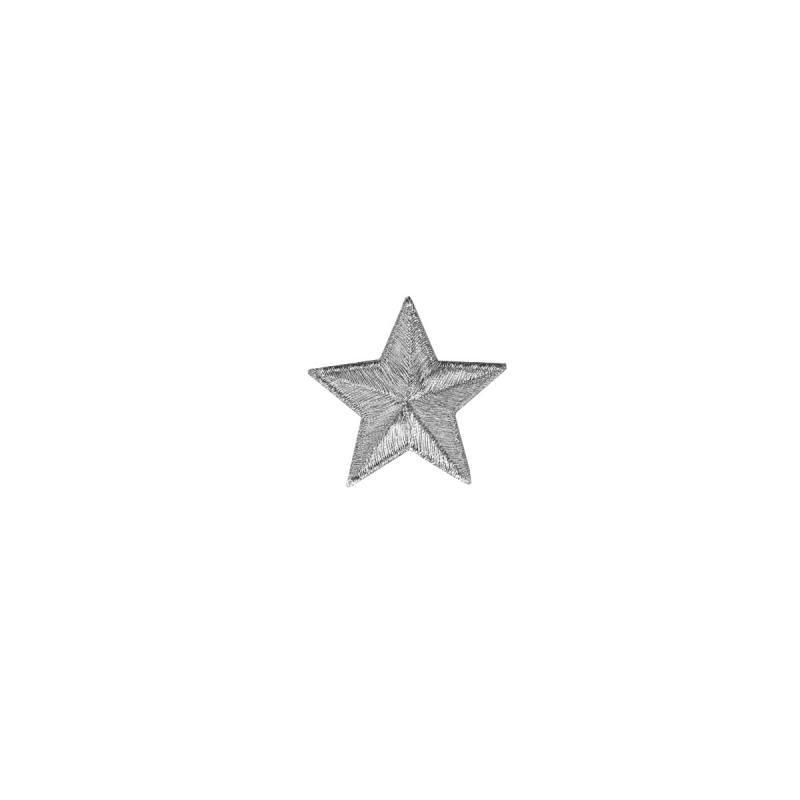 """Ecusson """"Petite étoile argentée"""" thermocollant"""