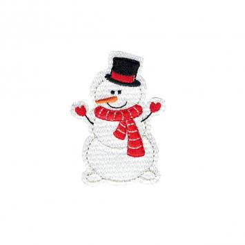 "Ecusson ""Bonhomme de neige"" thermocollant"