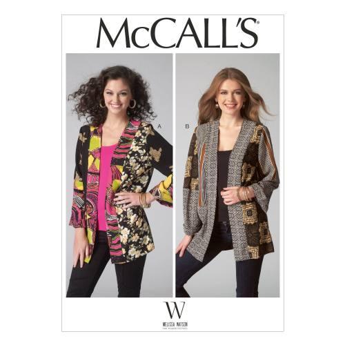 Patron Mc Call's M7132: Veste Taille: 44-52