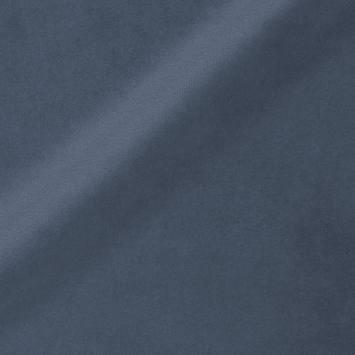 Velours ras d'ameublement uni bleu gris