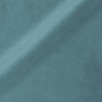Velours ras d'ameublement uni turquoise