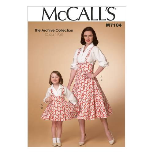 Patron Mc Call's M7184: Haut et chasuble Taille: 36-50