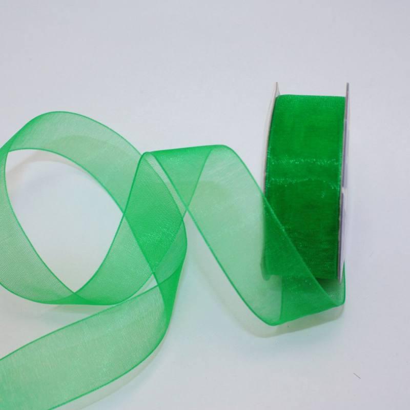 Ruban organdi en bobine vert 20 mm