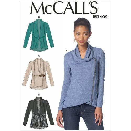 Patron Mc Call's M7199: Veste Taille: 34-42