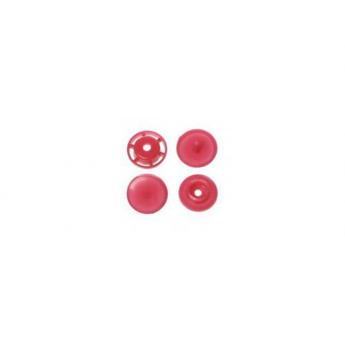 Boite de boutons-pression ronds en résine Color snaps rose