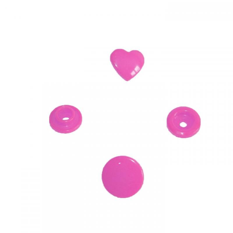 Boite de boutons-pression ronds en résine Color snaps rouge
