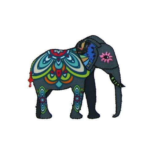 "Ecusson ""Elephant indien 1"" thermocollant"
