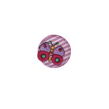 """Ecusson """"Papillon fuchsia enfant"""" thermocollant"""