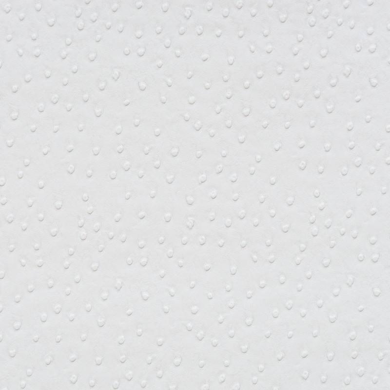 Simili cuir peau d\'autruche blanc - Tissus Price