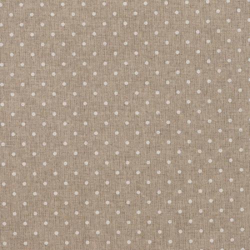 Coton enduit motifs petits pois blancs