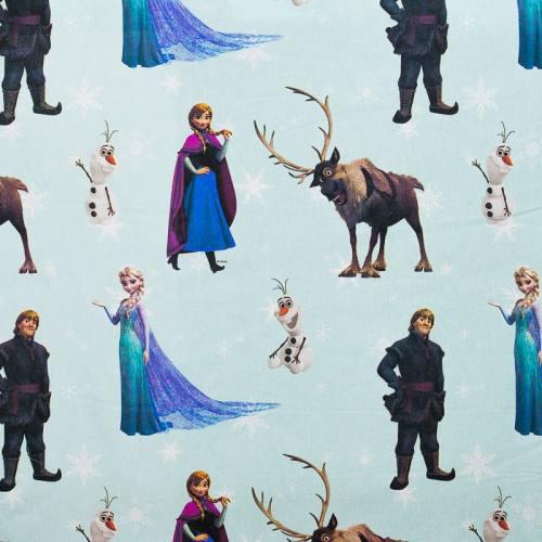 Coton vert d'eau Disney La Reine des Neiges