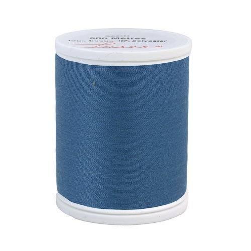 Fil à coudre polyester 500m bleu pétrole 2190