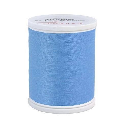 Fil à coudre polyester 500m bleu clair 2208