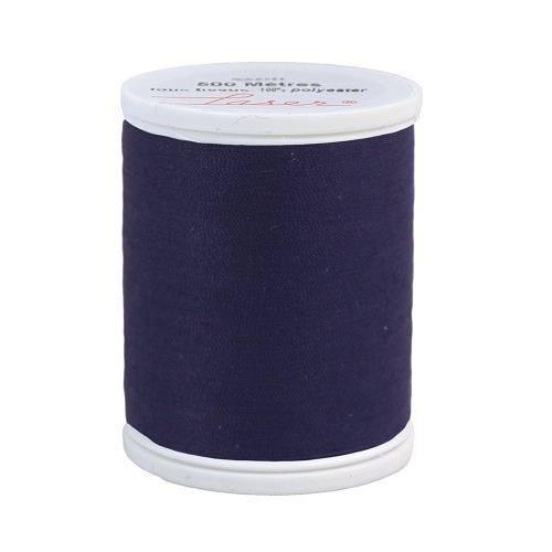 Fil à coudre polyester 500m violet foncé 2318