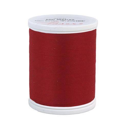 Fil à coudre polyester 500m rouge foncé 2506