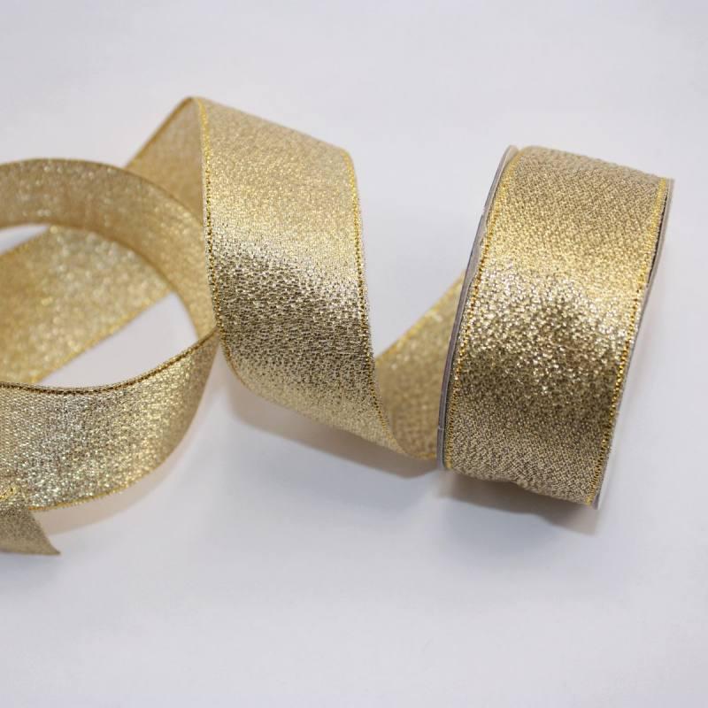 Ruban fantaisie en bobine or 26 mm
