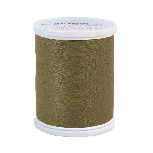 Fil à coudre polyester 500m vert kaki 2740