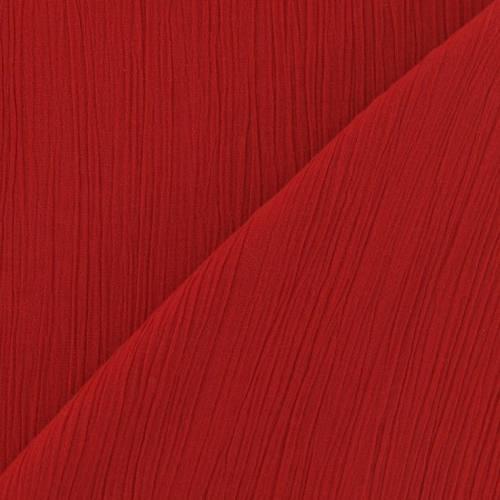 Mousseline crépon rouge