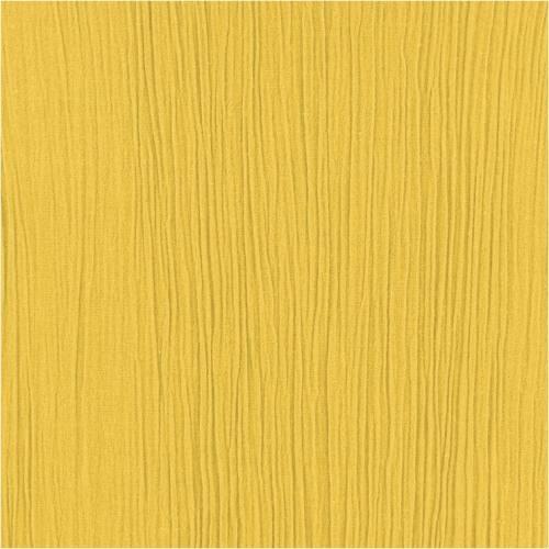 Mousseline crépon jaune