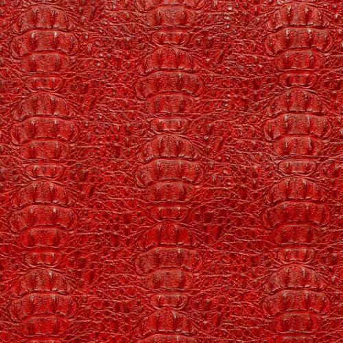 Simili cuir croco laqué rouge