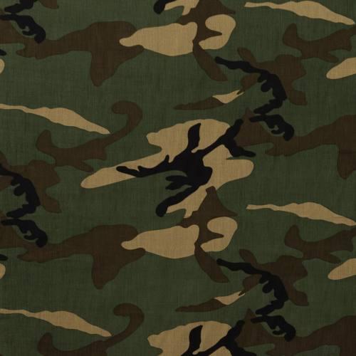 Coton imprimé militaire vert