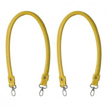 Anses de sac mousqueton jaune 60 cm