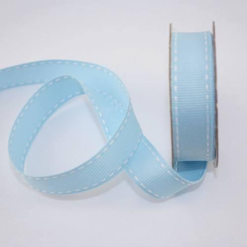 Ruban en bobine bleu ciel 15 mm