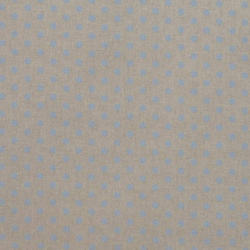 toile coton effet imprim 233 e pois bleus pastel tissus price