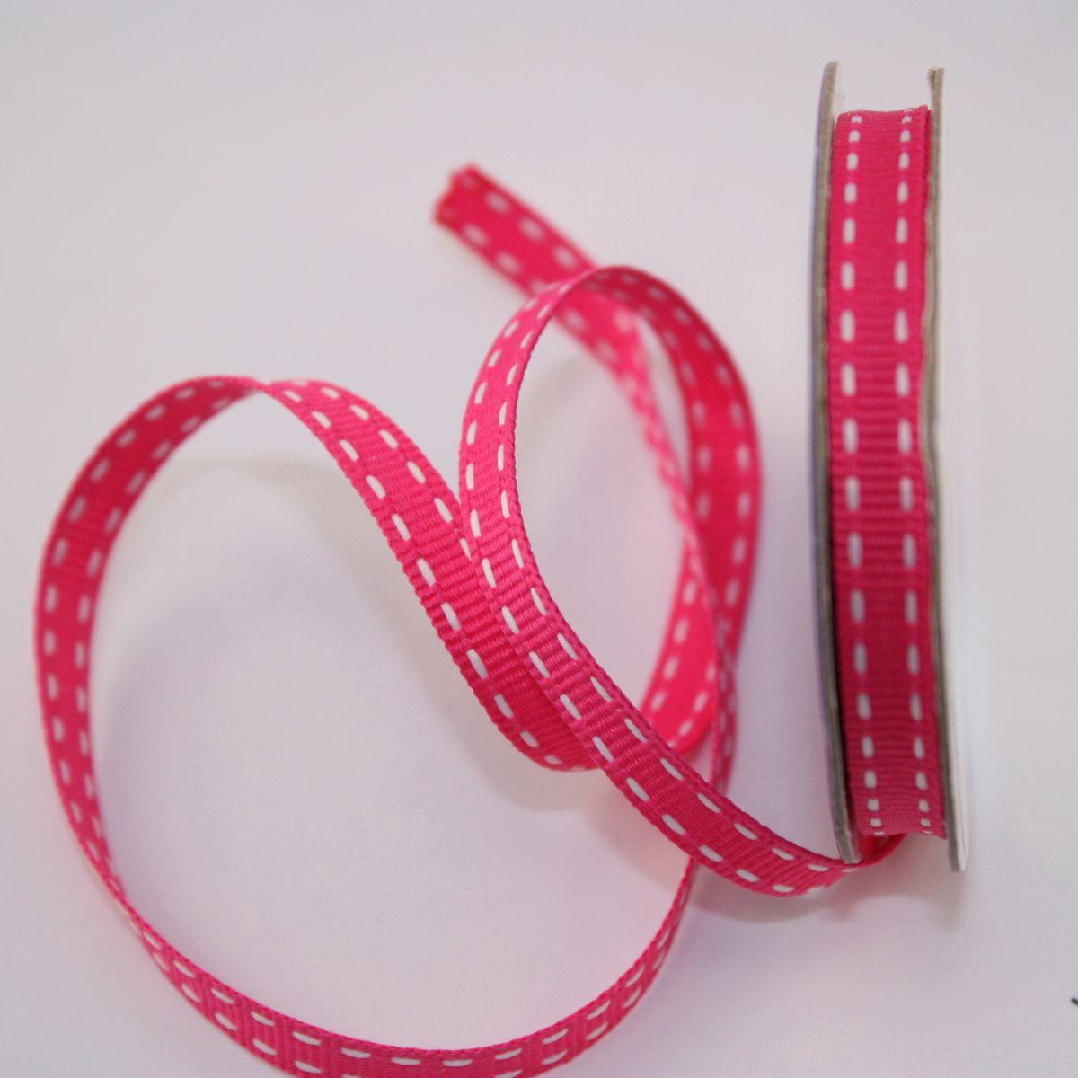 Ruban en bobine rose 6 mm