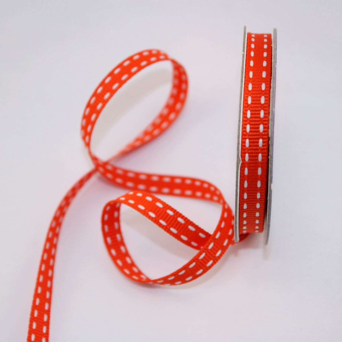 Ruban en bobine orange 6 mm