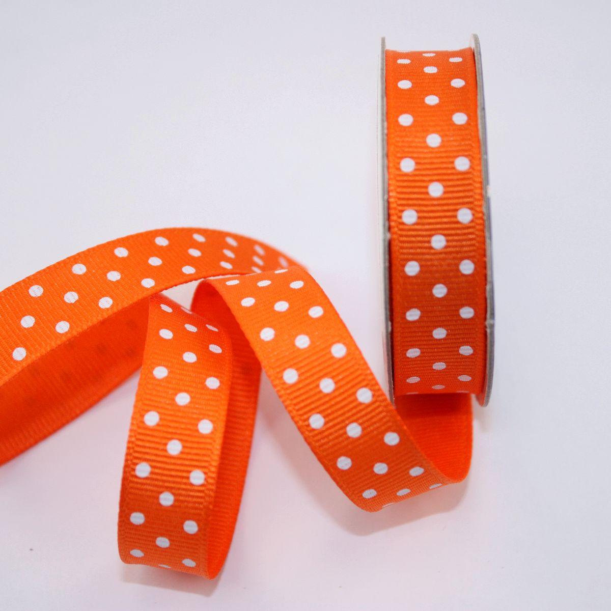 Ruban en bobine orange 13 mm