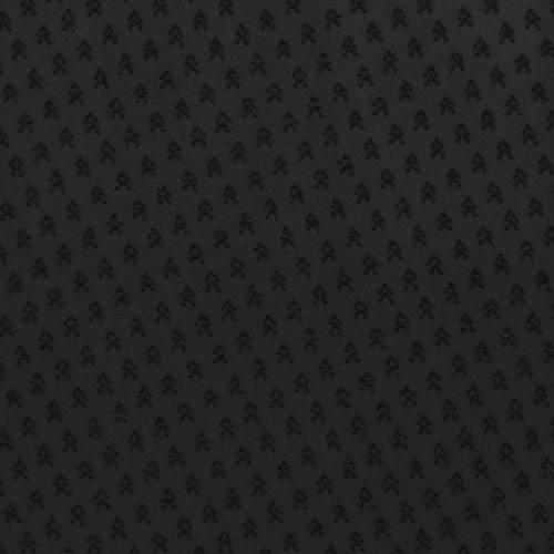 Mousseline plumetis noire