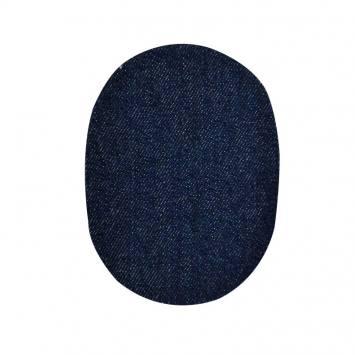 Pièces thermocollantes ovale jeans brut X2