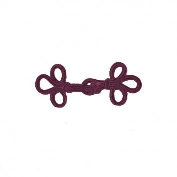Brandebourg 5,5 cm noeuds prunes