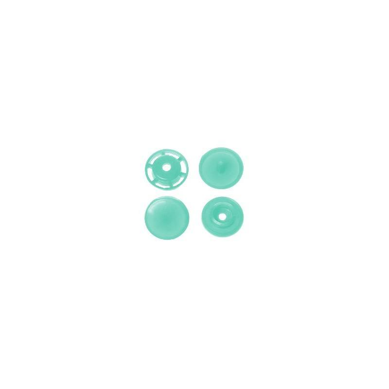 Boite de boutons-pression ronds en résine Color snaps menthe
