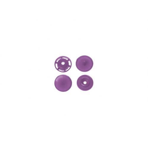Boite de boutons-pression ronds en résine Color snaps lilas