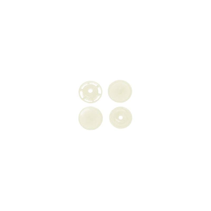 Boite de boutons-pression ronds en résine Color snaps perle