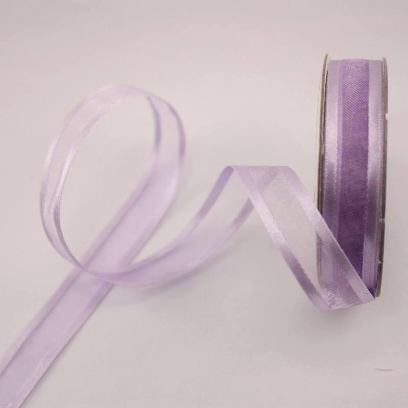 Ruban fantaisie en bobine lavande 12 mm