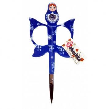 Ciseaux à broder Babushka bleus