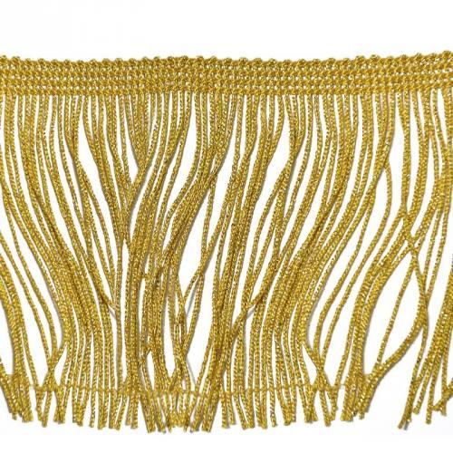 Frange lurex dorée 30mm