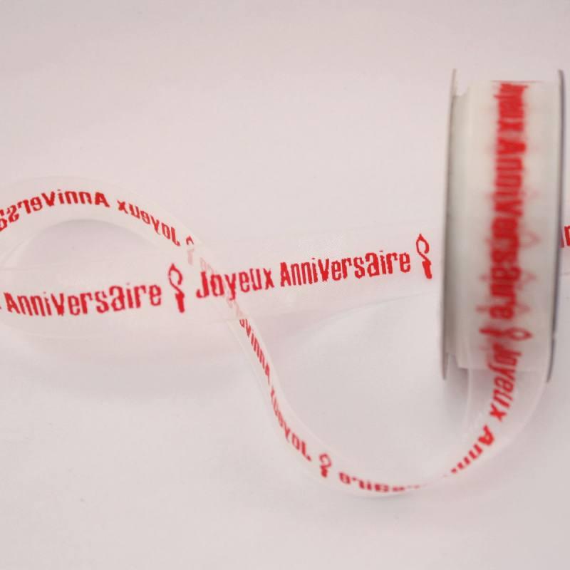 Ruban organdi fantaisie 15 mm