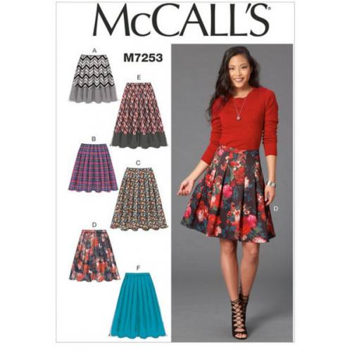 Patron Mc Call's M7253: Jupe Taille: 42-50