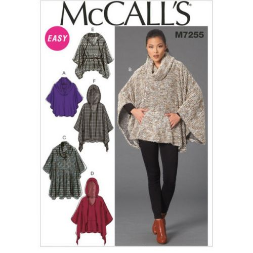 Patron Mc Call's M7255 : Poncho Taille: 44-52