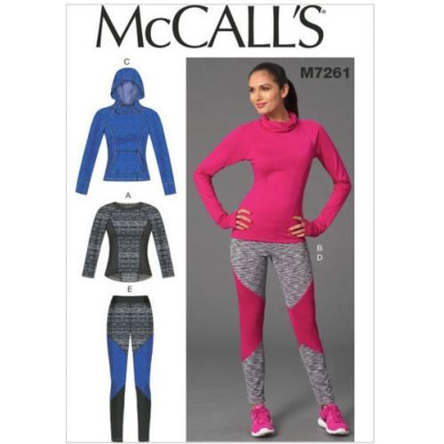 Patron Mc Call's M7261: Hauts et Collants Taille: 34-42